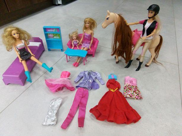 Barbie, zestaw Barbie, zestaw lalek Barbie,Barbie meble,Barbie ubranka