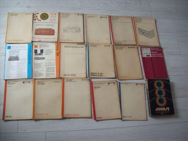 Instrukcje serwisowe z PRL-18 szt--UNITRA,tunery, gramofony, radia TV