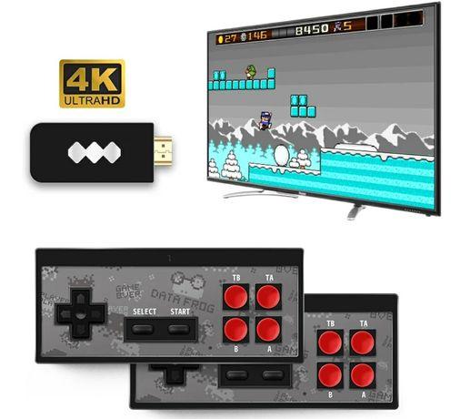 Consola mini Y2 HDMI sem fios (Incluí 568 Jogos e 2x comandos wireless