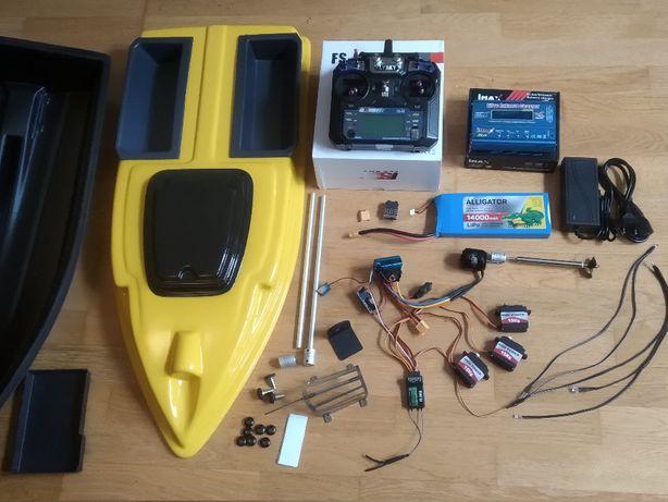 Кораблик 2 бункера для завоза прикормки рыбалки карповый Автопилот GPS