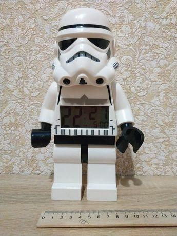 Часы будильник лего lego star wars штурмовик