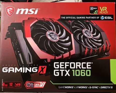 Placa Gráfica NVidia Geforce GTX 1060 6GB DDR5