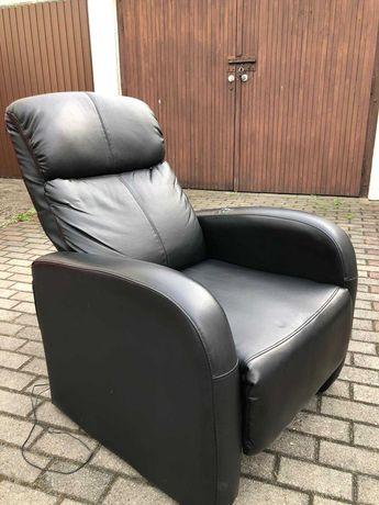 Fotel z masażem - czarny