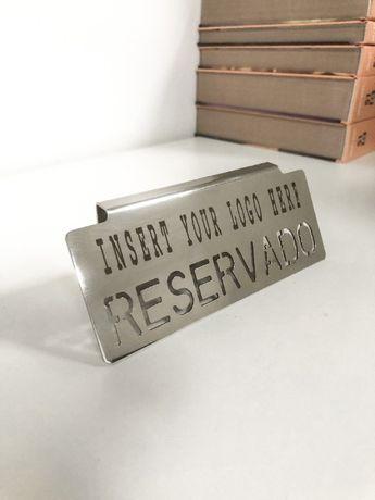 Personalizável - 5 Placas para reserva de mesa - Restaurante