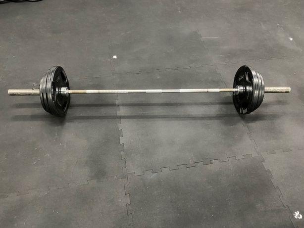 Sztanga olimpijska + obciążenie gumowane, waga 82,5kg