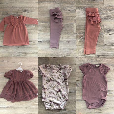 Paczka markowych ubrań dla dziewczynki 74-80 Newbie, h&m, kappahl