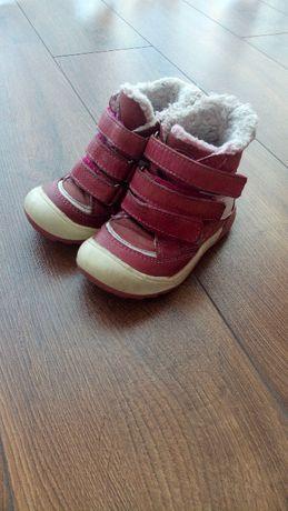 Różowe, czerwone zimowe buty buciki dla dziewczynki Lasocki 22