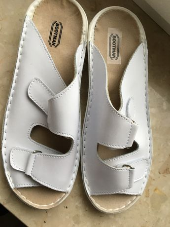 Buty klapki ochronne robocze białe  r 38