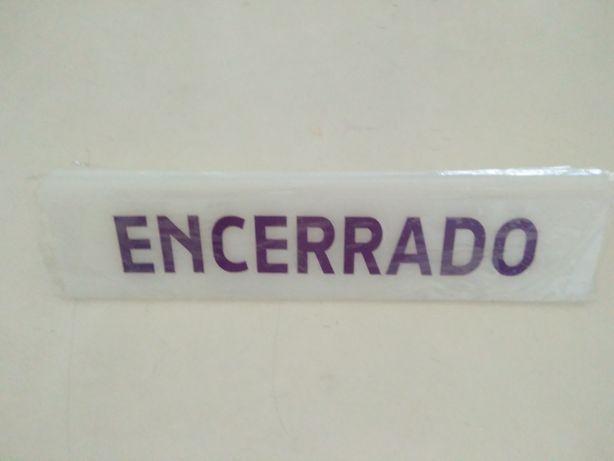 Placa em acrilico ENCERRADO