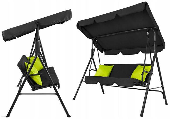 Huśtawka Ogrodowa 3-OSOBOWA ławka bujana poduszki + materac HIT