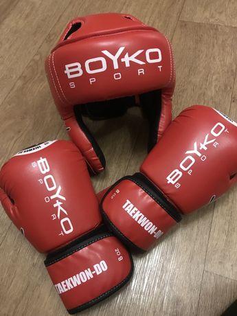 Перчатки боксерські та шолом дитячі Boyko Sport