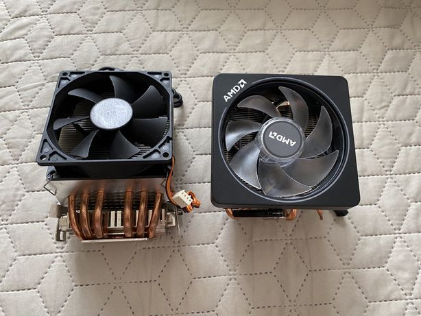 Охлаждение процессора AMD Wraith prism и Scythe Katana 3
