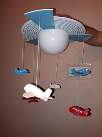 Lampa do pokoju dziecięcego samoloty
