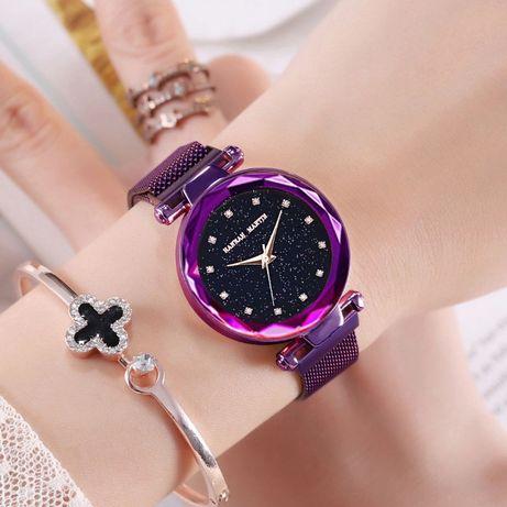 Женские часы на магнитной застежке Starry Sky фиолетовые