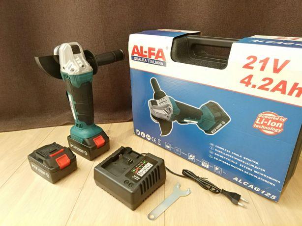 Болгарка акумуляторна AL-FA ALCAG125. 21 В. Гарантія 1 рік
