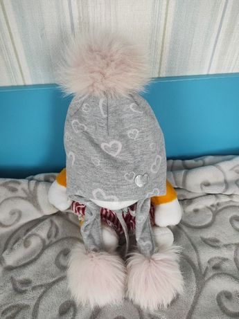 теплая зимняя шапка, для девочки