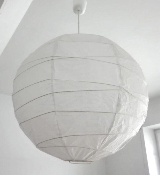 Klosz lampy wiszącej IKEA Regolit kolor biały średnica 45 cm NOWY Świnoujście - image 1