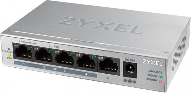 Zyxel GS1005HP POE Switch на 5 портов