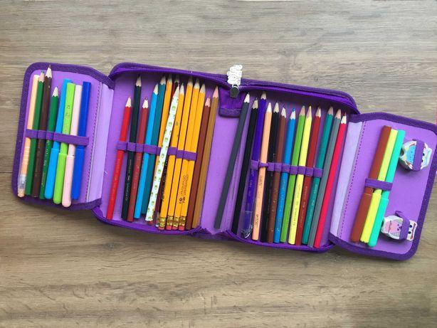 Школьный пенал Kite Mia and Me с карандашами набор б.у.