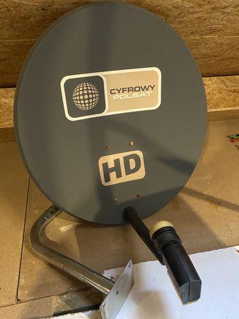 Talerz TV satelitarnej z converterem PVR
