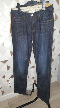 H&M nowe jeansy w kolarze niebieskim rozmiar 164 cm 13-14 L .
