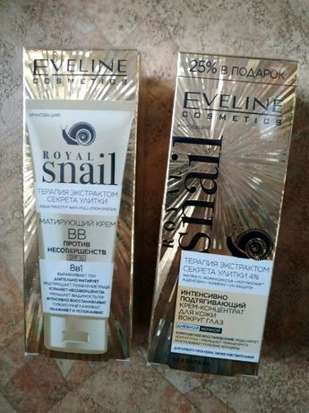 Новые кремы Eveline Royal Snail для кожи вокруг глаз и ВВ