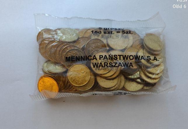 monety-5 groszy 2004 r-woreczek menniczy