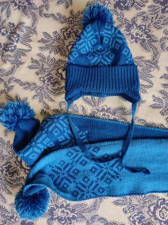 Набор шапка шарф зимний