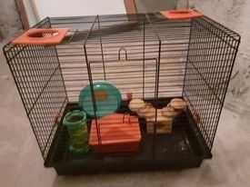 Klatka dla gryzoni (szczura, myszki) z akcesoriami