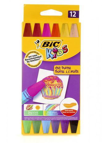 Набор восковых пастельных карандашей 12 шт. BIC