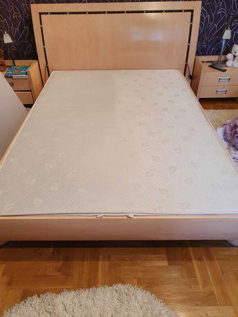 Łóżko 140x200, 2 szafki nocne. Komplet do sypialni.Lampki 2 szt GRATIS
