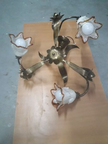 OKAZJA Żyrandol  na 3 żarówki wraz z żarówkami