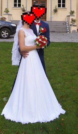 Suknia ślubna z welonem+Gratisy