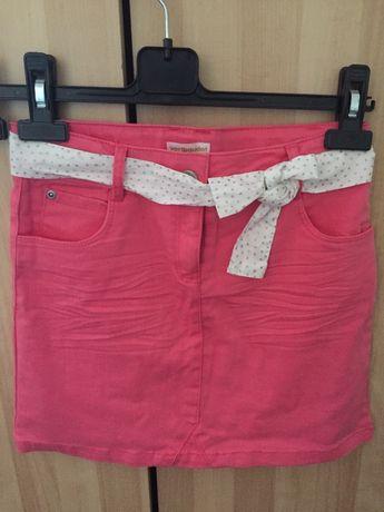 Saia jeans rosa Vertbaudet novo T.10 anos