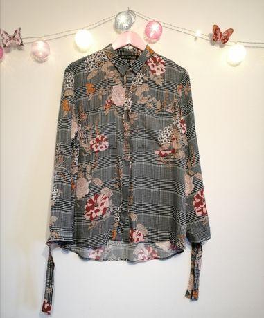 Piękna koszula w kwiaty, rozmiar 40,Top Secret, wiskoza 100%