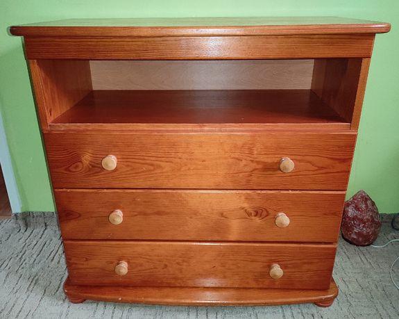 Komoda drewniana sosnowa kolor olcha 3 szuflady