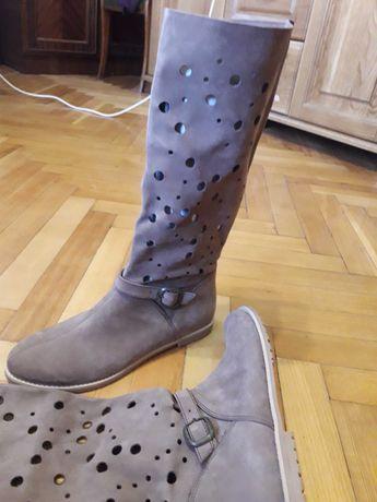 Сапоги чоботи шкіра кожа осинь 40