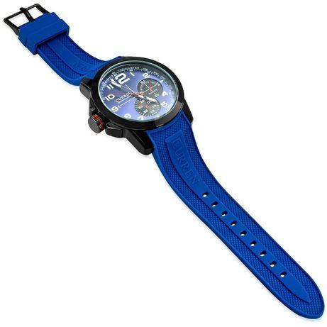 Męski zegarek na rękę Current silikonowy niebieski pasek nowość Zeg3