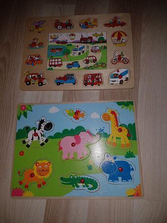 Puzzle drewniane dla maluszka