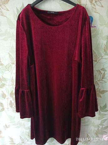 Велюровое платье George 16 размер (евро 44).