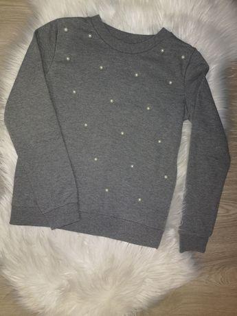 Bluza z perełkami XS sinsay