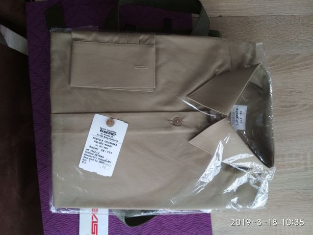 Koszula biala i khaki