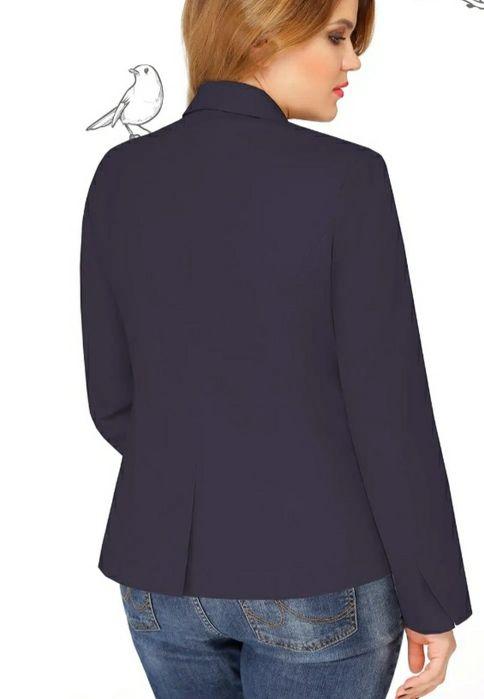 Классический темно-синий  пиджак р.18 Чернигов - изображение 1