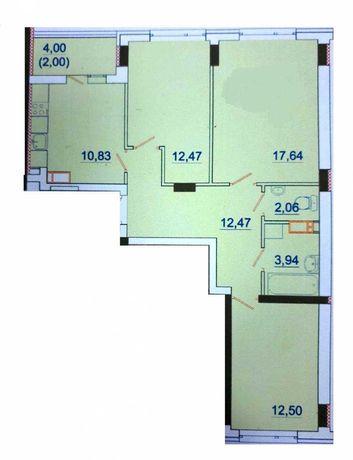 3х комнатная, дом сдан и заселен! Уже можно делать ремонт и жить!