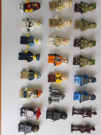 LEGO figurki city, star wars, ninjago, chima, minifigures