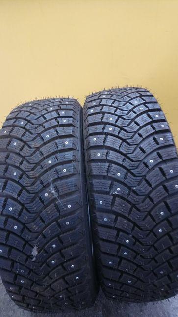 Opony używane zimowe z kolcami100% kolca, 2 sztuki, 205/65R16 Michelin