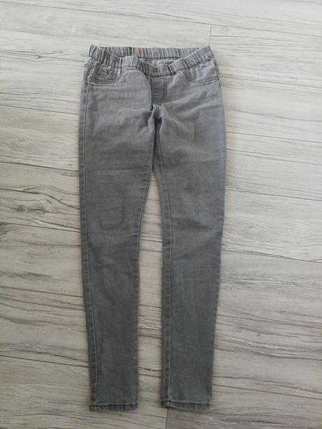 Denim spodnie jegging roz 34/Xs szare elastyk