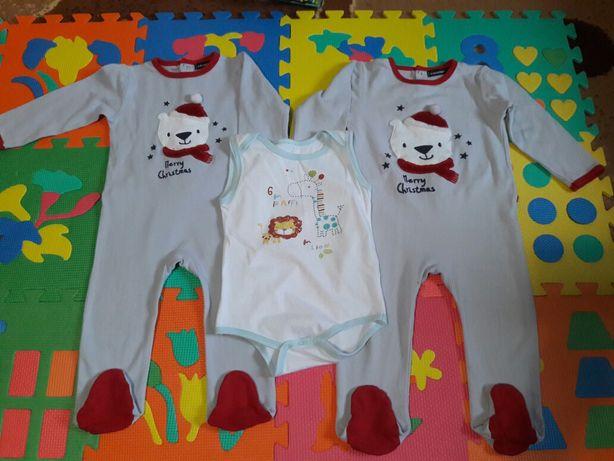 Теплые человечки/пижама на рост 80см и 86 см
