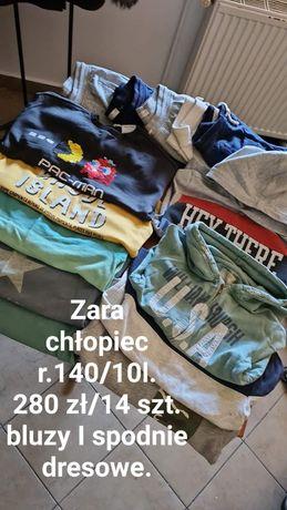 Zestaw Zara chłopiec , r.140/10 l.