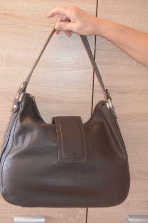 LLOYD torbka skorzana miejska czekoladowy brąz